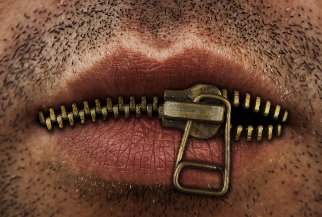Язык за зубами, рот на замке