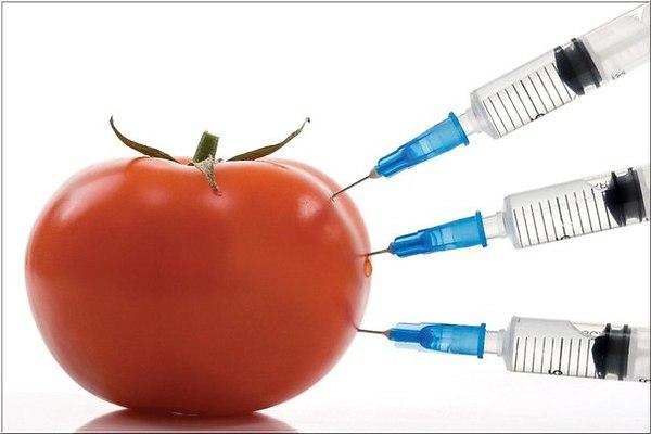 Наколотый помидор