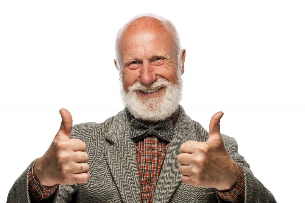 Весёлый дед пенсионер
