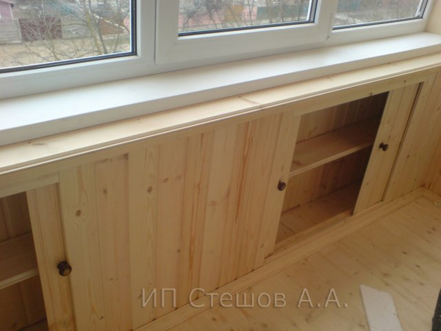 Как построить шкаф на лоджии