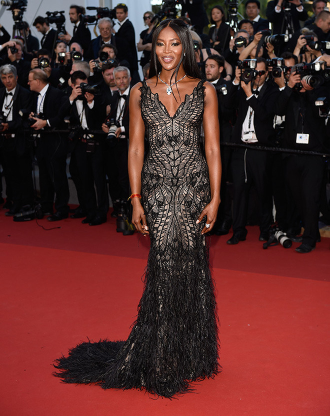 CANNES, FRANCE - MAY 23: Naomi Campbell attends the 70th Anniversary of the 70th annual Cannes Film Festival at Palais des Festivals on May 23, 2017 in Cannes, France. (Photo by Antony Jones/Getty Images)