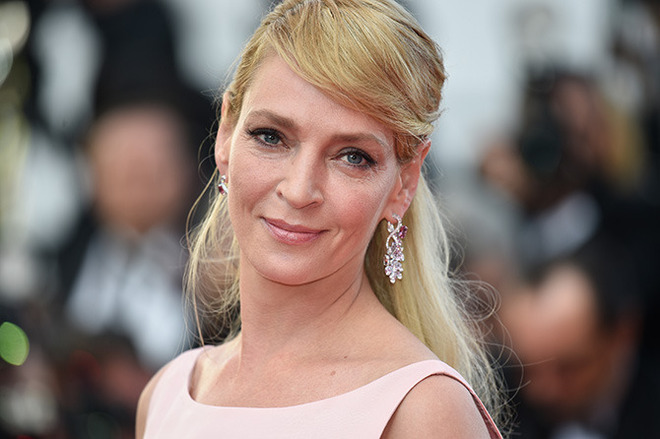 CANNES, FRANCE - MAY 23: Uma Thurman attends the 70th Anniversary of the 70th annual Cannes Film Festival at Palais des Festivals on May 23, 2017 in Cannes, France. (Photo by Antony Jones/Getty Images)
