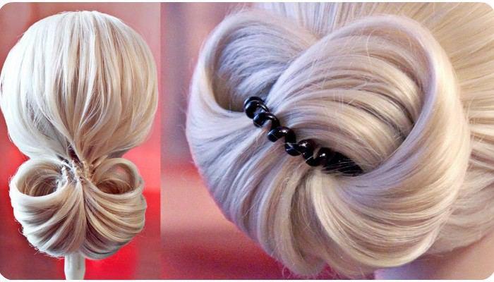 Как сделать причёску с резинками видео